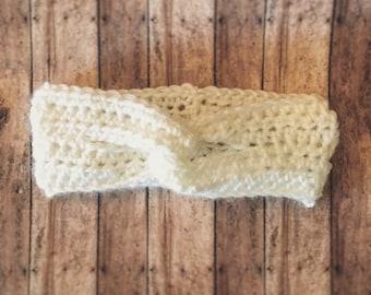 Crochet turban headband