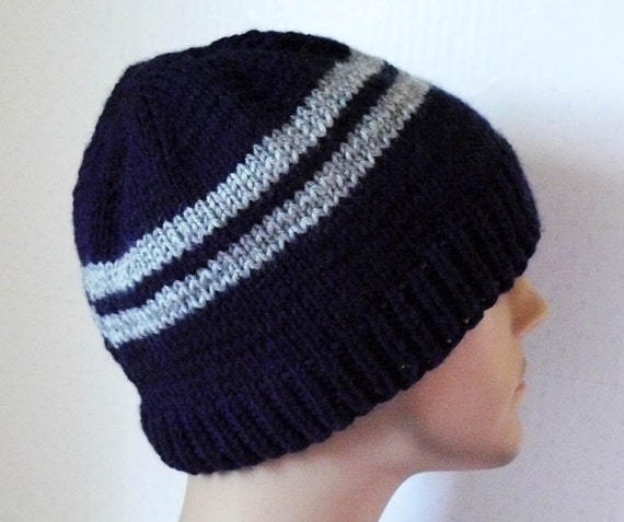 Knitted Hat Mens Knit Hats Knit Striped Beanies Teen Knit