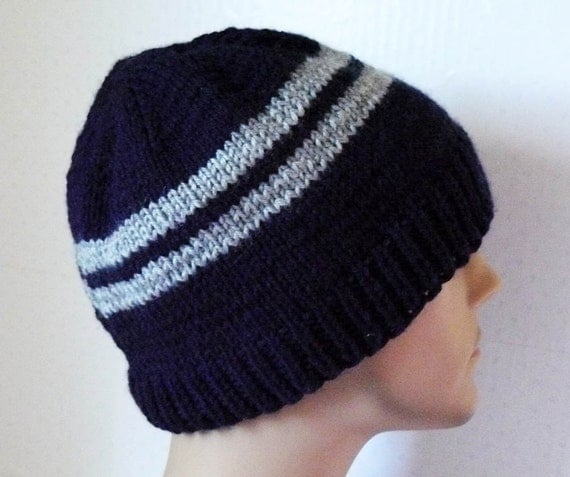 Striped Beanie Knitting Pattern : Knitted Hat Mens Knit Hats Knit Striped Beanies Teen Knit