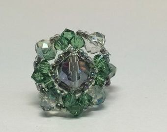 Swarovski Crystal Beaded Ring