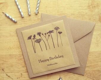 Wildflower seed packet birthday card