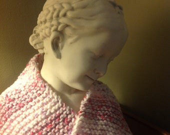 Pink-White-Lavender Neck Warmer