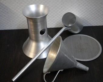 Aluminium, espresso-Mocha coffee maker set, screen, funnel, ladle