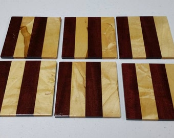 Wood Coasters from Maple & Purple Heart Woods