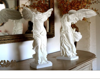 3D Printed Winged Victory of Samothrace Sculpture in PLA Plastic, Home Decor, Replica Artifacts