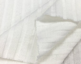 100% Cotton Stripe Knit Fabric (Wholesale Price Available By the Bolt) USA Made Premium Quality - 8002 BOW Soft - 1 Yard