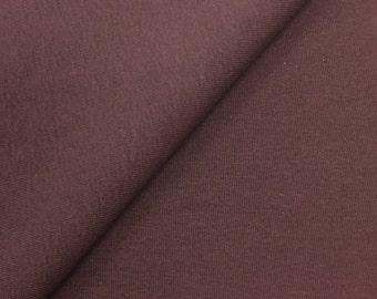 Cotton 1x1 Rib Knit Fabric With Spandex (Wholesale Price Available By the Bolt) USA Made Premium Quality - 1393B Saddle - 1 Yard