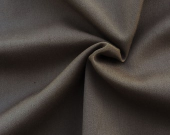 Stretchy Twill Fabric By the Yard (Wholesale Price Available By the Bolt) Premium Quality - 10055 Mink - 1 Yard