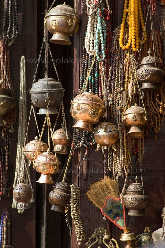 home decor store in kathmandu incense pots and trinkets in kathmandu by nlkstockphotography 12409