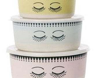 Eyes Storage Bowls Set of 3 - Perfect Gift for any Girl!