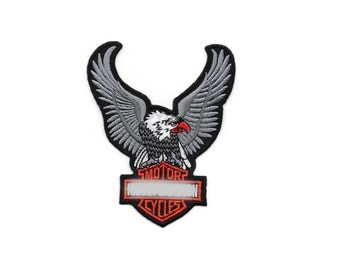 Vintage Gray Motorcycle Club Hippie Eagle EOD Military Embroidered Sew Iron On Patches Patch Appliques Biker For Jackets