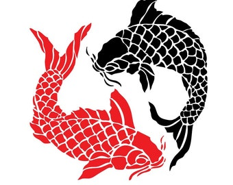 Koi Fish Circle - File Download - svg, png, dxf, eps, jpeg file formats