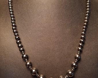 Graduated Hematite Necklace