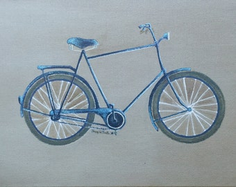 Acrylic painting on canvas - Le Velo