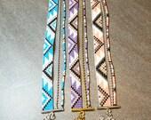 Bracelet Manchette tissé en perles Miyuki - Couleur à choisir