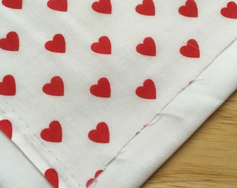 Double Bandana - Red Hearts On White - Slip Over