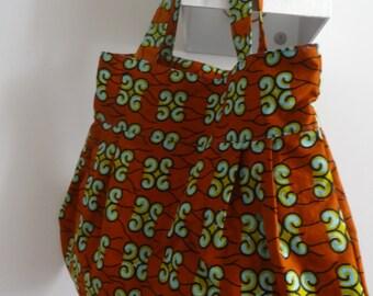 Holland wax pleated, handbag, shoulder bag
