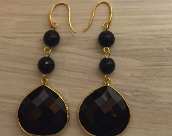 Onyx earrings, onyx earrings