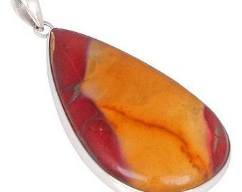 925 Fine Sterling Silver Jewelry Beautiful Snakeskin Jasper Stone Pendants P1033