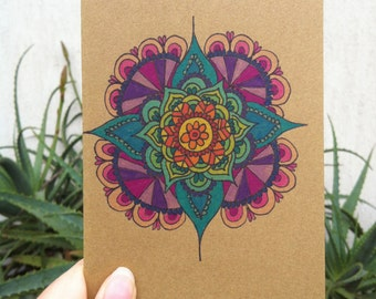 Rainbow Mandala Greeting/Birthday/Wedding Card