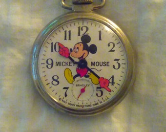 Vintage 1970s Mickey Mouse watch by Bradley