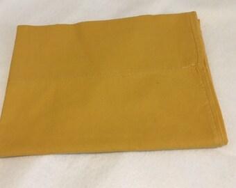 Vintage Pillowcase--Mustard Yellow--Mid Century