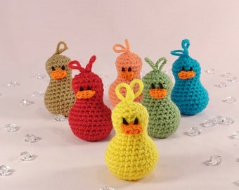 Crochet Duckie Amigurumi Plush Toy