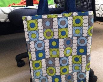 Large Denim Tote Bag with Matching Wristlet