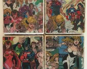Avengers Coasters/ Marvel/ superhero coasters