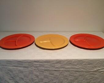 Vintage Fiestaware Divided Plates