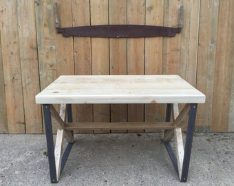 X-Frame Industrial Reclaimed Table
