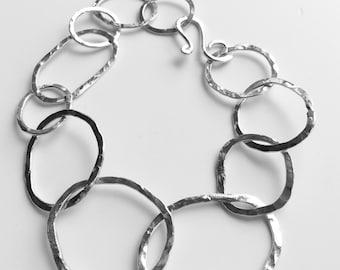 Handmade 925 silver links bracelet