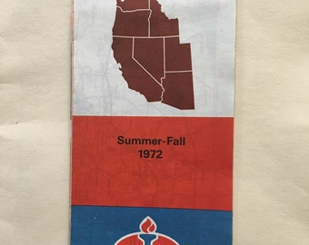 1970's Western United States Road Map