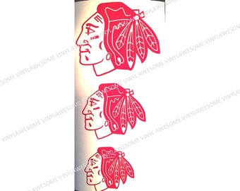 Chicago Blackhawks Decals (3)
