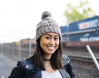 Winter hat, crochet hat, crochet cable hat, thick crochet hat