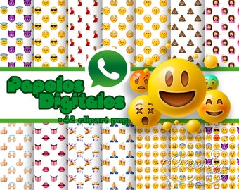 14 papers digital Emoji 2 + 60 Clipart PNG