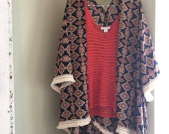 Fall colored kimono cover