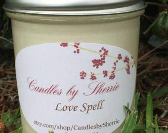100% Soy Candle Love Spell 8 oz.