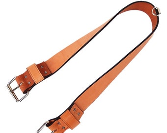 Heavy Duty Leather Rear Cinch Strap With Roller Buckles