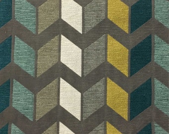 Upholstery Fabric - Ziba - Laguna - Modern Texture Chevron Pattern Cotton Polyester Home Decor Fabric by the Yard - Available in 8 Colors
