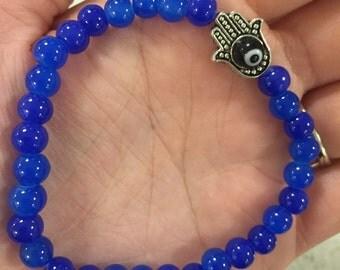 Hamsa and eye bracelet