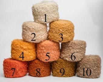Kid Mohair Boucle Yarn  - Luxury ADELE'S MOHAIR - Doll Hair 50gr