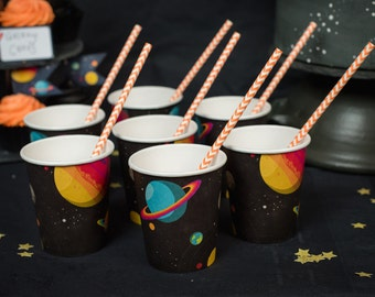Set of Eight Space Paper Cups