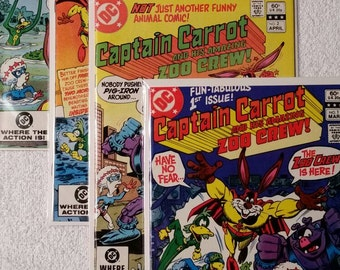 Captain Carrot and his Amazing Zoo Crew #1-4 (1982)