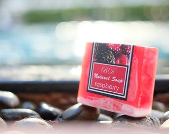 Raspberry Soap - Handmade Soap, Glycerin Soap, Handcrafted Soap, Natural Soap