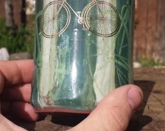 Gold Luster Bicycle Mug