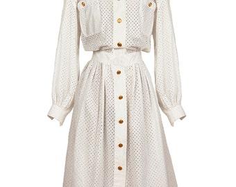 Chanel White Cotton Dress