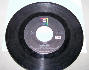 """1960's Hit 45 rpm Record """"Dizzy"""" by Tommy Roe"""