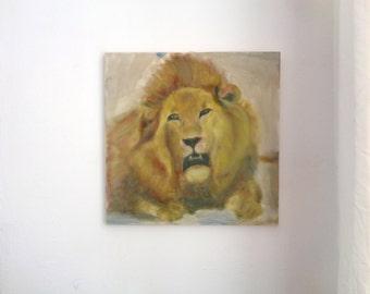 Lion Original Oil Painting