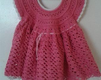Fabric crochet dress